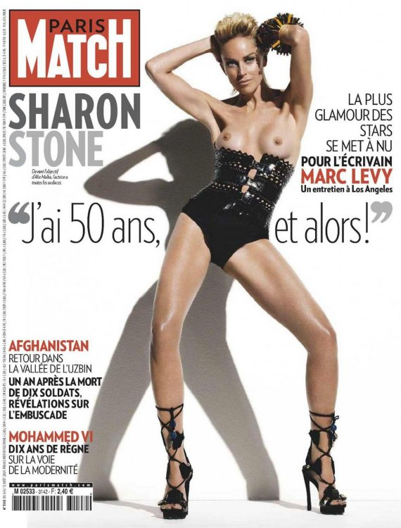 Шерон Стоун (Sharon Stone) голая в журнале Paris Match август 2009